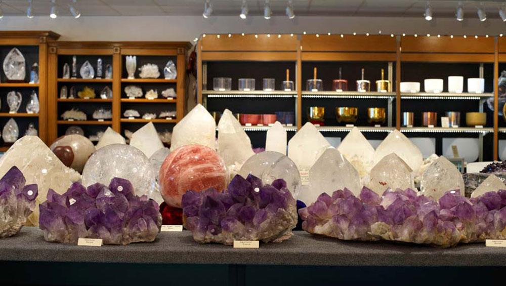Large Bolivian Amethyst, Brazilian Quartz Points, Rose Quartz Sphere, Crystal Singing Bowls