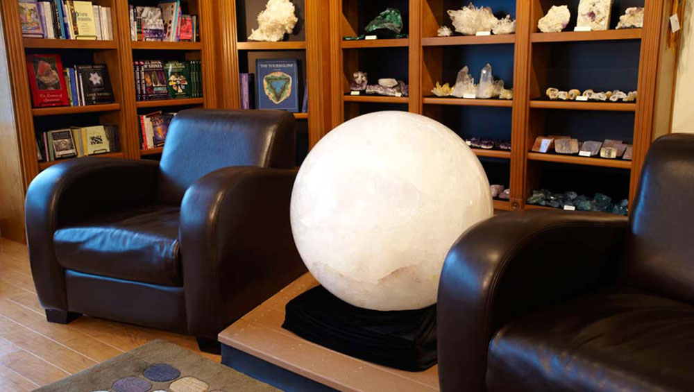 Large 1110 Pound White Quartz Sphere from Brazil