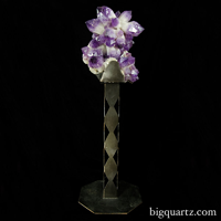 Large Bolivian Amethyst Cluster on stand for sale Interior Designers